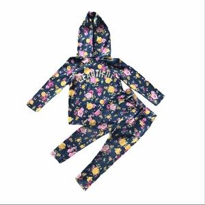 Garanimals girls floral outfit. Size 4T.